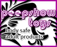 Peepshow logo link to online store